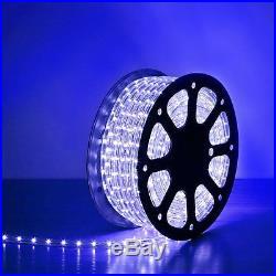 2x Blue 150ft 110V-120V LED Light Rope String Outdoor Tree Party Garden Lighting