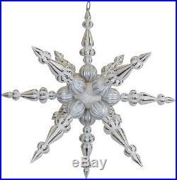 30 White Snowflake Iridescent Christmas Decor Home Ornament Fun Winter Party