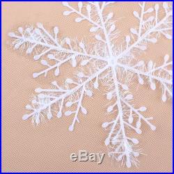 30pcs Christmas Holiday White Snowflake Charms Festival Party Decor Ornament