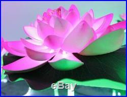 31.5 LED Lotus Light 3 Pink Lotus+2 Green Leaf Indoor Home Holiday Wedding Deco