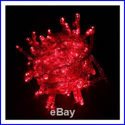 32 FT/10M 100 LED Red String Fairy Light Christmas Party Wedding Garden Xmas