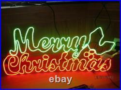 36 LED Neon Prelit Merry Christmas Window Sign Lighted Decor Indoor/Outdoor