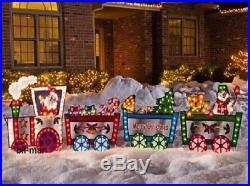 36 Lighted Santa Train Christmas Yard Decor (New in Box) FREE SHIPPING