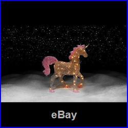 36 Pre-Lit Acrylic Unicorn Christmas Holiday Lights Outdoor Yard Lighted Decor