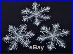 36pcs Christmas Tree Decoration Snowflake Hangers/Shimmering White Xmas Decor