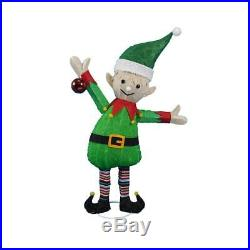 38 Santa's Elf Tinsel Sculpture Outdoor Christmas Yard Lawn Decoration Seaso