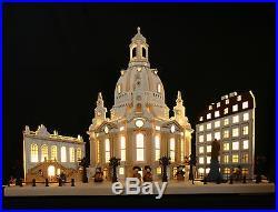 3D LED Schwibbogen Frauenkirche Dresden Stadtansicht Lichterbogen Lichterhaus