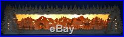 3D Schwibbogen-Erhöhung Sockel 79cm Rehe geschnitzt Wildftterung Erzgebirge