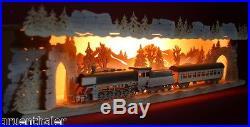 3D-Schwibbogen-Erhöhung Sockel Bank 75cm Eisenbahn Lok Dampflok Zug Erzgebirge