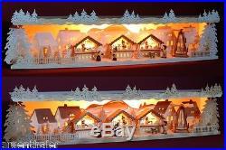 3D-Schwibbogen-Erhöhung Unterbank Weihnachtsmarkt Pyramide Erzgebirge Sockel
