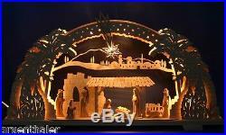 3D-Schwibbogen Stern von Bethlehem geschnitzt Christi Geburt Krippe Erzgebirge