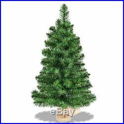 3Ft Artificial PVC Christmas Tree Tabletop Holiday Season Home Decoration Decor
