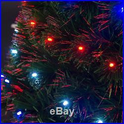 3-7ft Pre-lit Fiber Christmas Tree Artificial Optic Home Christmas Decoration