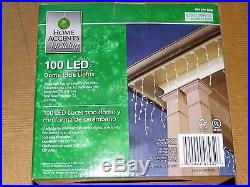 3 Boxes of 100 White Clear LED Icicle Lights Christmas Wedding Holiday Accents