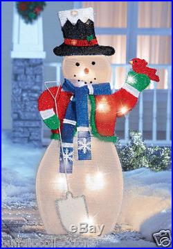 3 Ft. Tall Lighted Holiday Frosty The Snowman Christmas Outdoor Yard Decoration