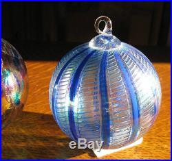 3 GLASS EYE STUDIO BEAUTIFUL BLOWN GLASS ORNAMENTS HOLIDAY