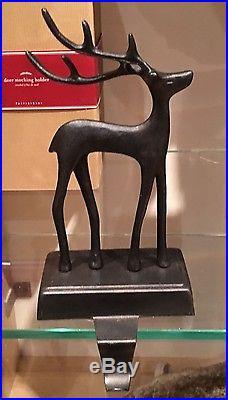 3 New Pottery Barn Santa S Sleigh Deer Reindeer Stocking