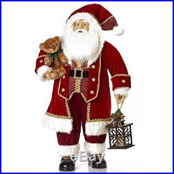 3ft Large Santa Traditional Red Velvet Fabric Father Christmas Decoration