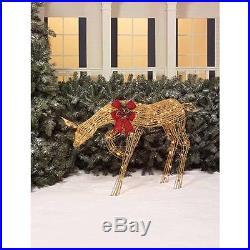 40 Glittering Doe Light Sculpture Deer Christmas Holiday Outdoor Yard Decor NEW