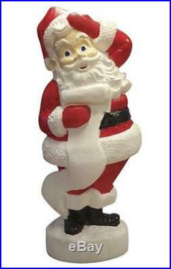 43 Lighted Santa Claus Checking List Blow Mold Outdoor Yard Christmas Decor