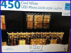 450 Cool White LED Micro Icicle-style Lights Outdoor Christmas Wedding Lights