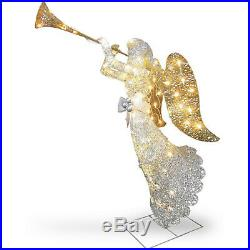 48 Crystal Angel Christmas Outdoor Lighted Decorations Yard Decor Sculpture