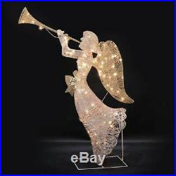 48 Hark The Herald Lighted Angel Sculpture Outdoor Christmas Decor Holiday