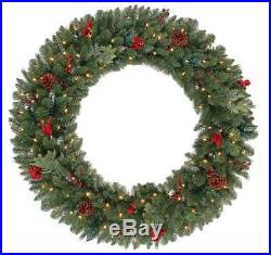 48 LED Lights Artificial Christmas Wreath 120 Lights Holiday Decoration Decor