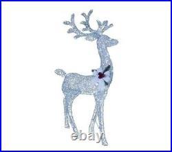 48 Lighted Silver White Buck Deer Sculpture Outdoor Christmas Yard Decor Lawn