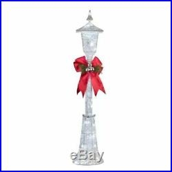 48 Lighted White Victorian Lamp Post Sculpture Lit Outdoor Christmas Decor Yard