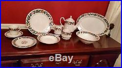 48-pc Royal Majestic Dinner Set For 8 By Sango Christmas Eve White, Red, Green