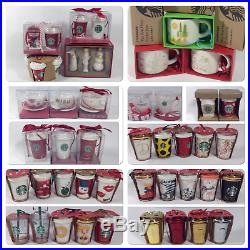 48 pc Starbucks To Go Mugs, Cups, Tea Cups Ornaments Set Bonus 2003-2015