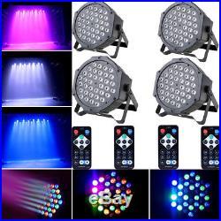 4PCS 72W 36 LED Par DJ Stage Light RGB DMX Disco Bar Party Lighting Controllers