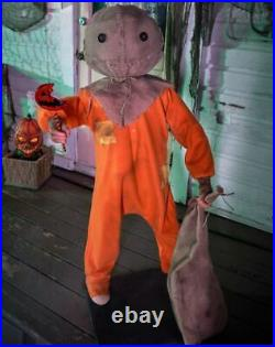 4.3′ Moving & Laughing Sam From Trick'r Treat Animatronic Halloween Decoration