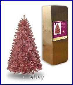 4/5/6/7ft Rose Pink Tinsel Tips Luxurious Christmas Tree Xmas Home Decorations