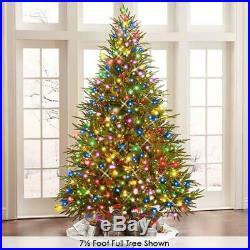 4.5′ Full Color LED Light Hammacher Worlds Best Prelit Fraser Fir Christmas Tree