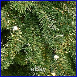 4.5′ Full Tiffany Tree Clear Lights holiday artificial christmas Xmas green tree