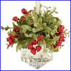 4.5 Hanging Glittering Mistletoe Prism Christmas Tree Ornament Decoration