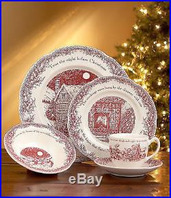 (4) 5 Pc Place Settings Johnson Brothers TWAS THE NIGHT Before Dishes Plates 16