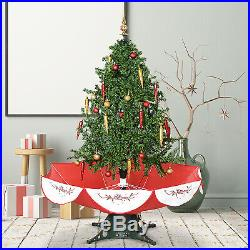 4.5′ Pre-Lit Musical Snowing Artificial Christmas Tree with Umbrella Base