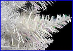 4.5′ Pre-Lit White Sparkle Spruce Artificial Christmas Tree Clear Lights