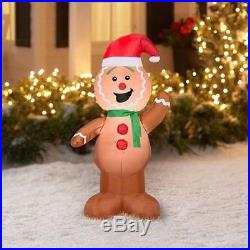4′ Airblown Inflatable Gingerbread Christmas Inflatable Outdoor Decor New