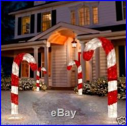 4′ Lighted 3D CANDY CANE Outdoor Christmas Holiday Yard Decor decoration