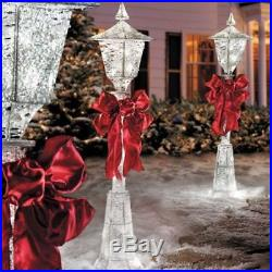 4' Lighted Pre Lit Christmas Victorian Lamp Post Outdoor Holiday Yard Decor