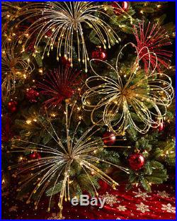 (4) Neiman Marcus Gold Pick Ornaments