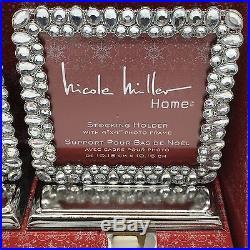 4 Nicole Miller Christmas Stocking Holder Hanger Picture