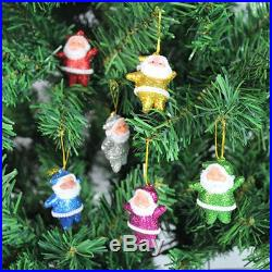4 packs Multi-Color 6 Pcs Christmas Santa Claus Tree Hanging Ornaments