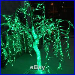 4ft Crystal LED Willow Tree Light Outdoor Christmas Light Holiday decor Green