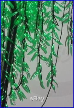4ft LED Willow Tree Light Holiday/Home Decoration 480pcs LEDs Green Outdoor Use