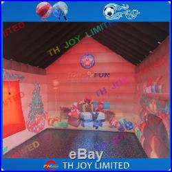 4mLx3mWx3mH design outdoor inflatable santa house christmas santa grotto tent